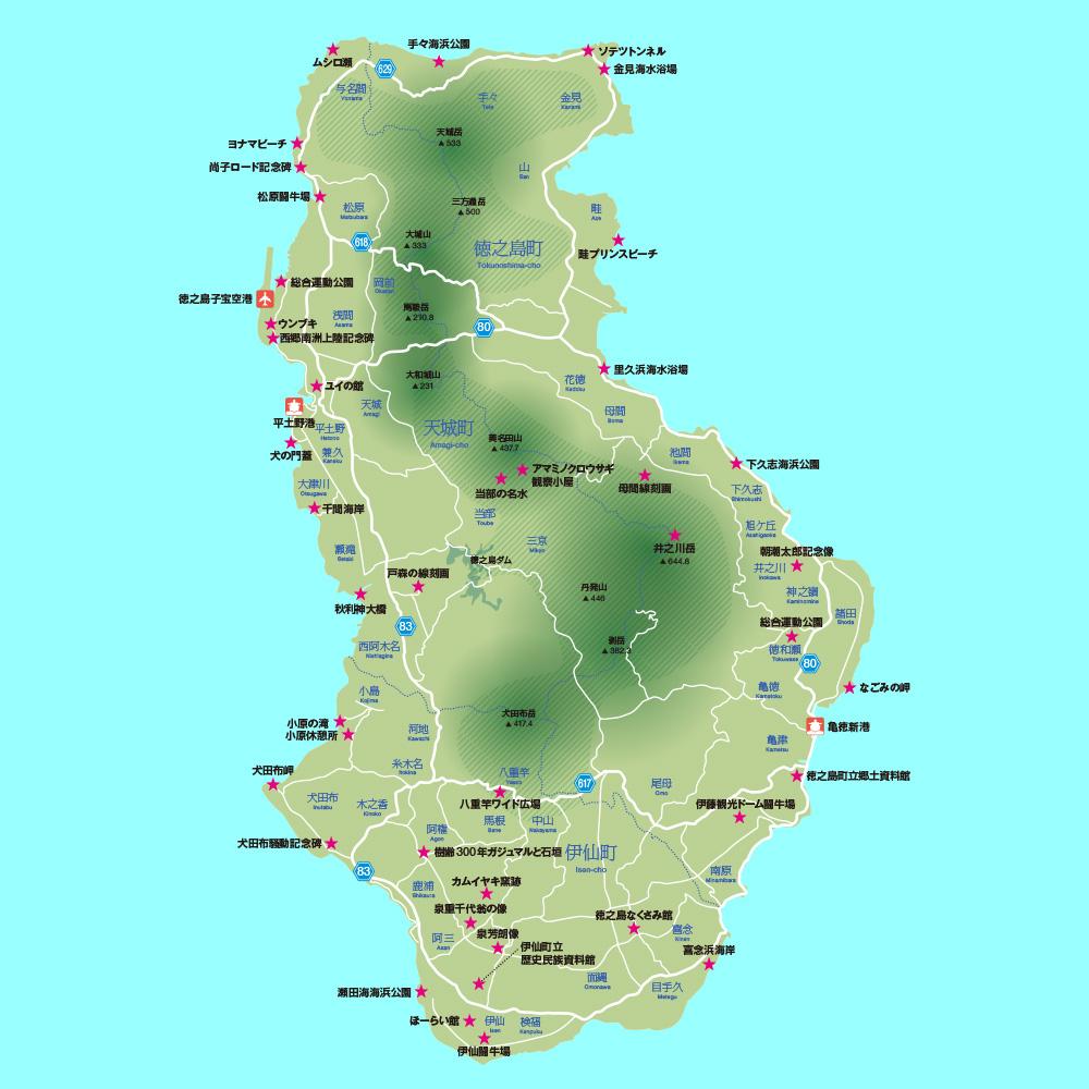 tokunoshima_map