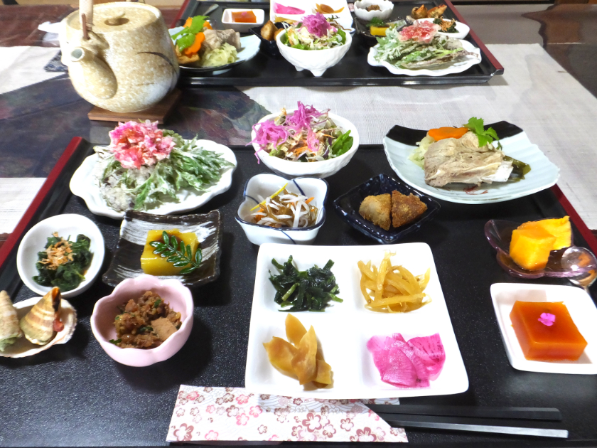 農家民宿・大津川3(ふちこランチ&夕食・全体)_2
