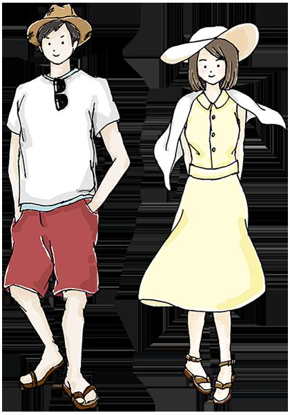 6月から9月頃の服装